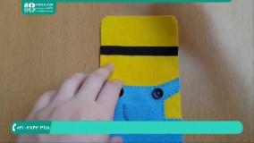 نمد دوزی   کیف موبایل   دوخت عروسک نمدی