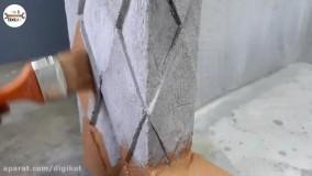 ساخت حوض و فواره زیبا از سیمان برای زیباسازی حیاط
