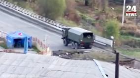 فیلمی از استقرار نیروهای صلح بان روسیه در مناطق قرهباغ