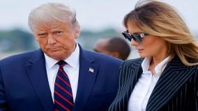 فیلمی از عدم تمایل ملانیا ترامپ به قدم زدن کنار رئیس جمهور بازنده