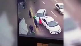 رانندهای که 4 عابر پیاده را در یک لحظه زیر گرفت
