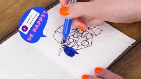 کاردستی های جالب متحرک برای کودکان از نقاشی و کاغذ