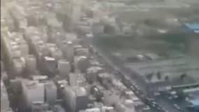 فرود هواپیما در فرودگاه مهرآباد از دید خلبان