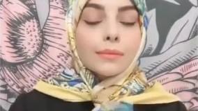 مدل بستن روسری بدون پیچیدن دور گردن