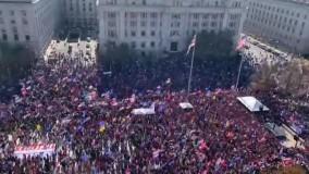 جمعیت هوادار ترامپ در واشنگتن