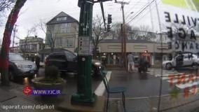 حادثه ای ناگوار هنگام عبور پیرزن آمریکایی از خیابان