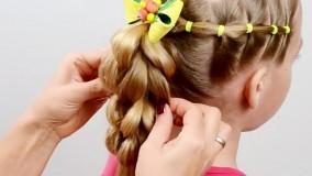 شینیون کودک ؛ بافت موی زیبای دخترانه