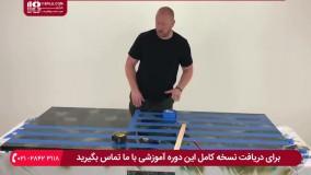 ساخت میز رزینی پنج نفر ( طرح پرچم آمریکا )