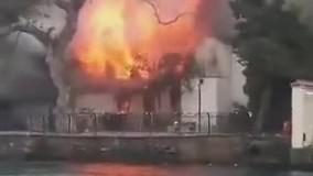 آتش سوزی در مسجد تاریخی وانیکوی در استانبول
