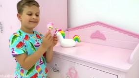 دیانا و روما جدید ; بازی با عروسک های جدید Kindi Kids Minis