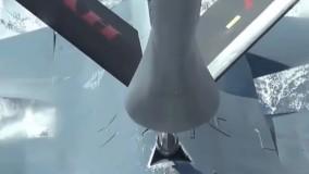 سوخت گیری هوایی جنگنده F16