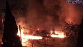 آتش سوزی در مرکز ری شناسی در شهر ری