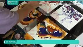 آموزش نقاشی طرح گل با رزین اپوکسی