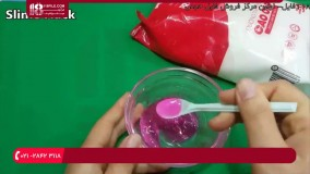 استفاده از چسب مایع و شکر در ساخت اسلایم