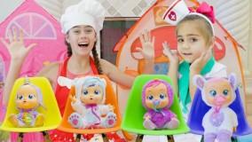 ناستیا و میا و  استیسی ؛ پیدا شدن عروسک جدید ، استیسی مامانی شد
