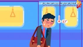 انیمیشن نشانه های بیماری کرونا به زبان فارسی