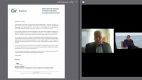 دعوت دانشگاه جرج واشنگتن برای همکاری علمی و آموزشی با پروفسور محمدشریف ملک زاده برای اجرای تئوری MFT  در آمریکا