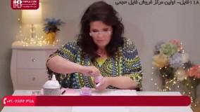 کاشت ناخن پولک دار با فرمر ذوزنقه ای ( دوبله فارسی )