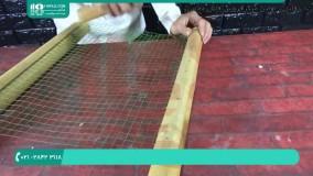 آموزش ساخت آبنما فانتزی با چوب بامبو و سنگ و سیمان