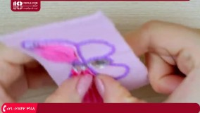 جواهر دوزی / پولک دوزی / سنجاق سینه پروانه