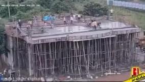 ریزش وحشتناک ساختمان در حال ساخت