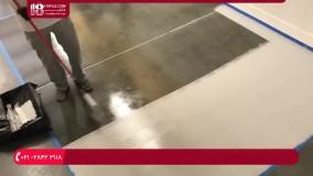 آموزش اجرای رزین اپوکسی با غلتک بر روی کف منزل