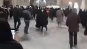 تشییع پیکر شهید فخری زاده در حرم امام رضا