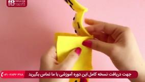 آموزش دوخت عروسک ایموجی با نمد برای جا کلیدی