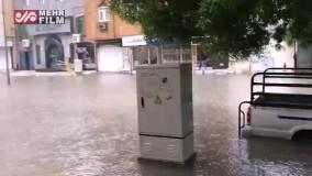 خیابان های بوشهر زیر آب رفت