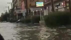 خیابان اصلی کیانپارس اهواز پس از بارندگی اخیر