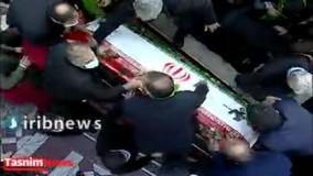 تدفین پیکر شهید فخریزاده در امامزاده صالح