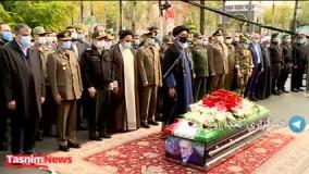 اقامه نماز بر پیکر دانشمند ایرانی در تهران