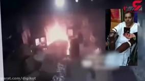 آتش سوزی هولناک در کارگاه کفاشی تهران