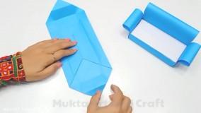 کار دستی آسان برای عروسک باربی ،  ساخت مبل کاغذی زیبا برای خانه باربی