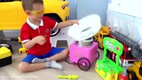 سوفیا و بابایی ؛  اسباب بازی های بزرگ در فروشگاه سوفیا