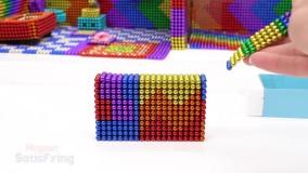 سرگرمی با توپ های مغناطیسی ؛  ساخت خانه برای توله های کوچولو