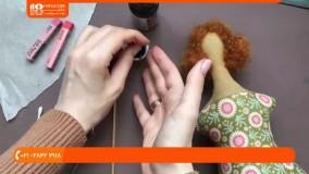 آموزش دوخت عروسک | آرایش چهره عروسک تیلدا