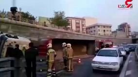 واژگونی مرگبار تریلی در بزرگراه امام علی