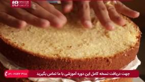 مراحل پخت و تزیین کیک چند طبقه برای تولد
