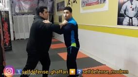 اموزش دفاع شخصی ؛  چگونه در دعوای خیابانی ضربه زانو را دفاع کنیم ؟