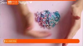 آموزش ساخت بدلیجات خمیری با ترکیب انواع رنگ ها