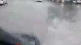 باران بار دیگر خیابانهای اهواز را غرق آب کرد