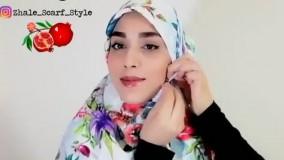 ایده بستن روسری برای زمستان، مناسب پالتو و بارانی