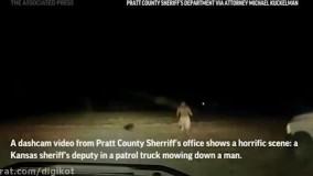 فیلمی دردناک از لحظه زیر گرفتن یک مرد سیاهپوست توسط خودروی پلیس