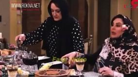 لحظه دعوای زشت بهاره رهنما و فلور نظری در شام ایرانی