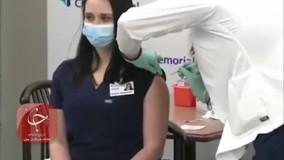 بیهوش شدن یک پرستار بعد از دریافت واکسن کرونا
