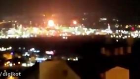 آتش سوزی در پالایشگاه نفتی حیفا