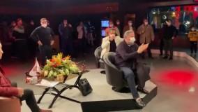 صحنه شادی علی کریمی ، خداداد و میناوند بعد از گل پرسپولیس