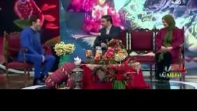 ازدواج بازیگران سریال شبکه 2 روی آنتن زنده