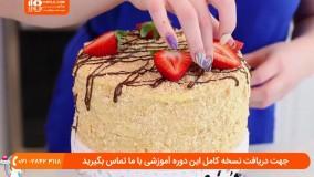 طرز پخت کیک ناپلئونی همراه با دیزاین آن